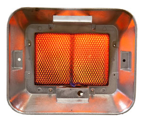 Space Heater with ceramic plaques